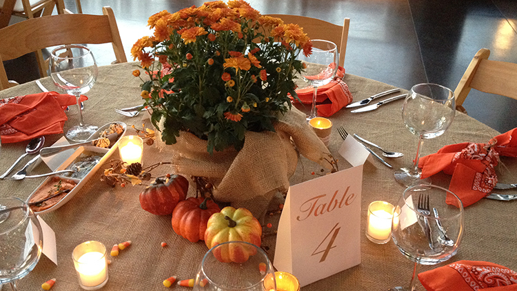 Fall Party Table Setting