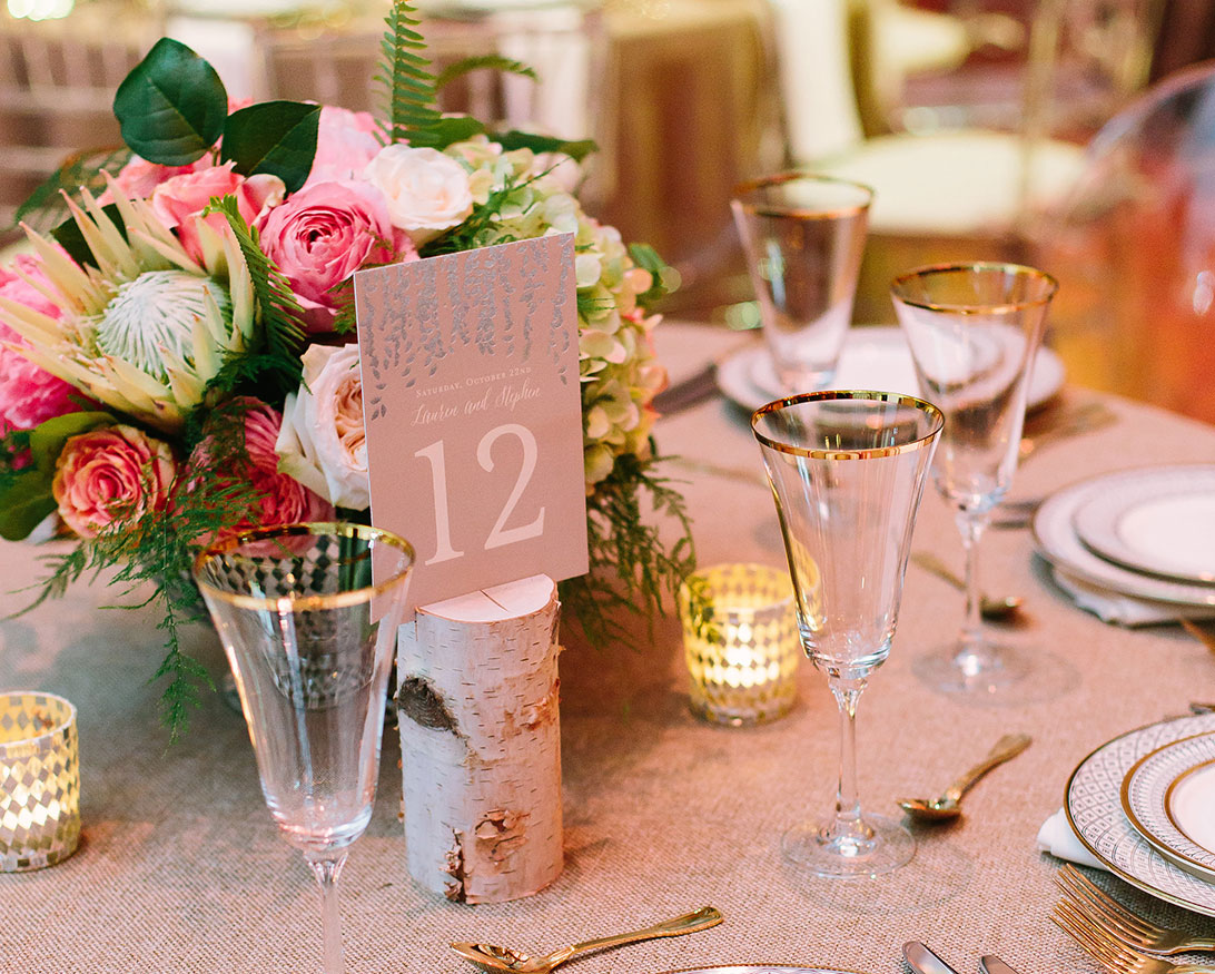 Pink Wedding Details at The Bell Tower