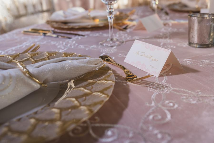 Pink Wedding Details at The Bridge Building