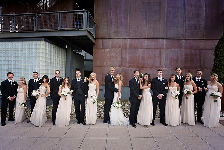 A rooftop ceremony at The Bridge Building Event Spaces.