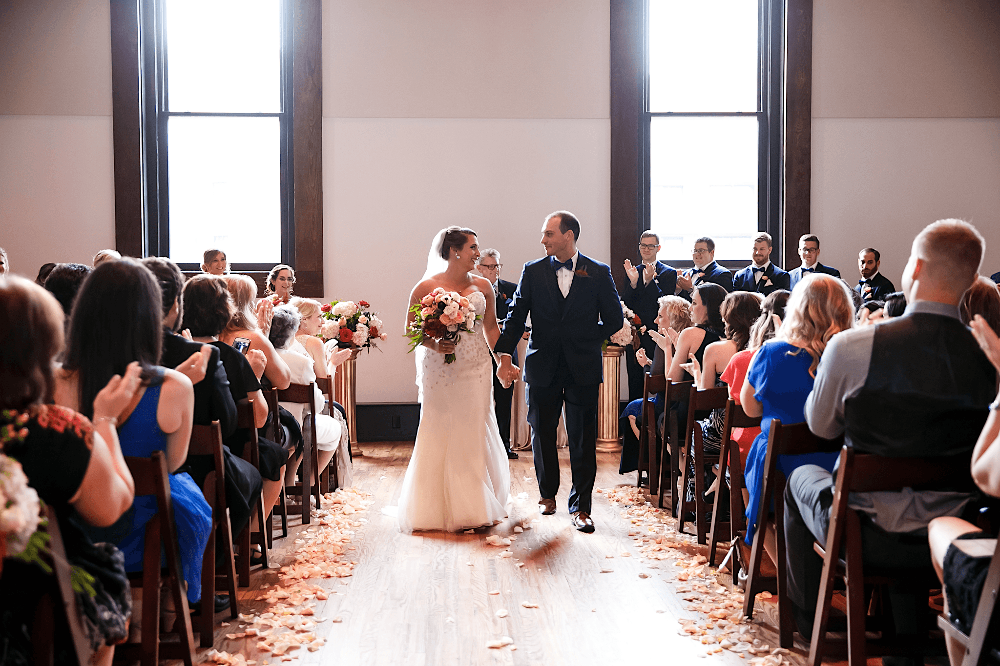 A glamorous, travel themed wedding at The Bell Tower.