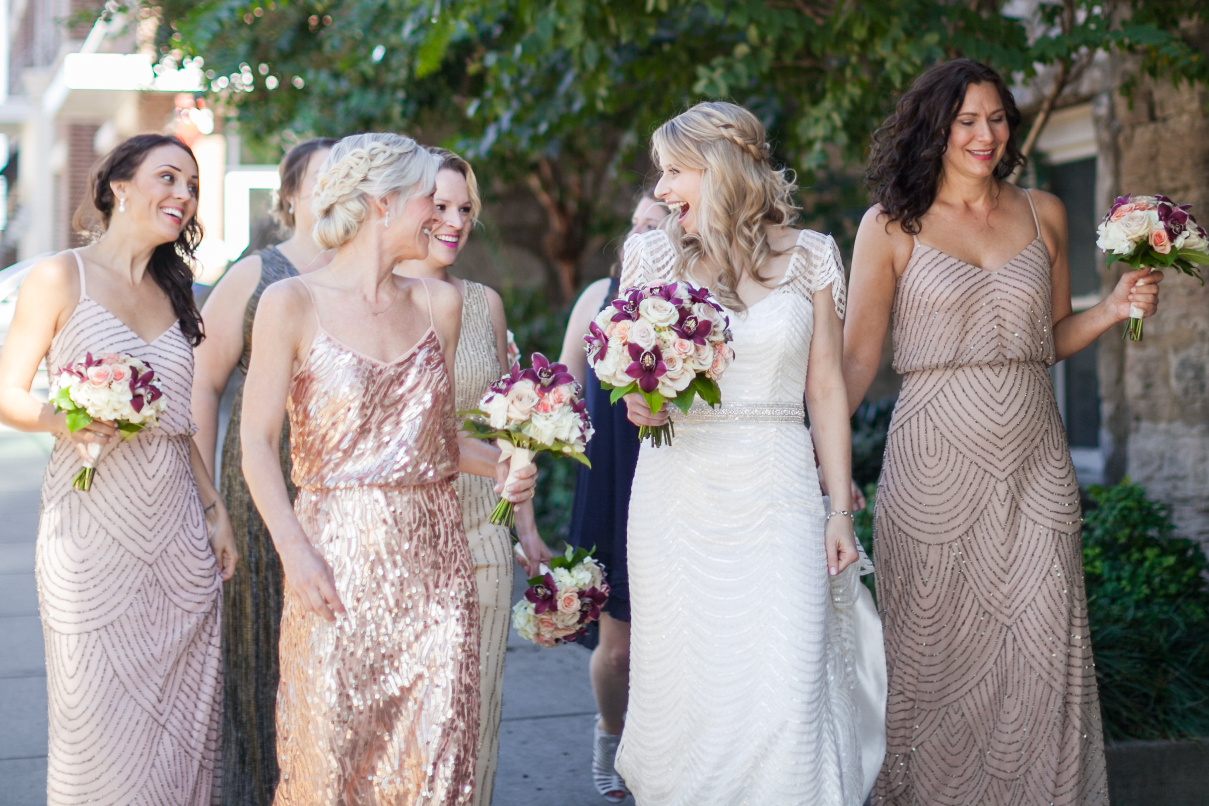 Allison and bridesmaids