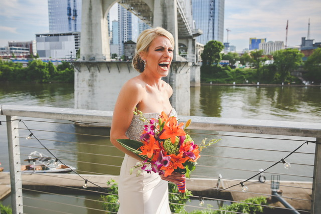 Natalie and Justin's Tropical Wedding at The Bridge Building