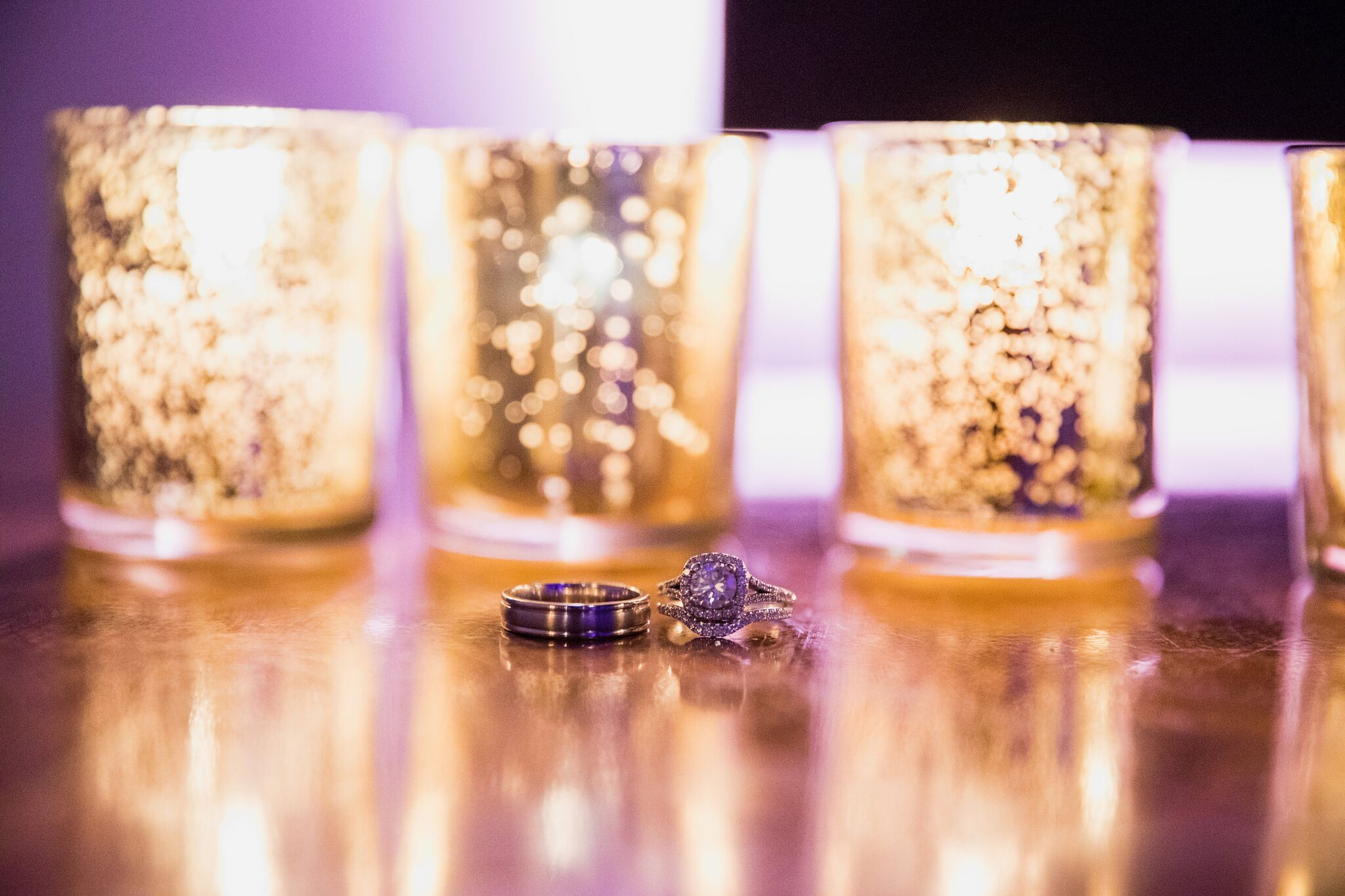 Christina and Clint's wedding rings