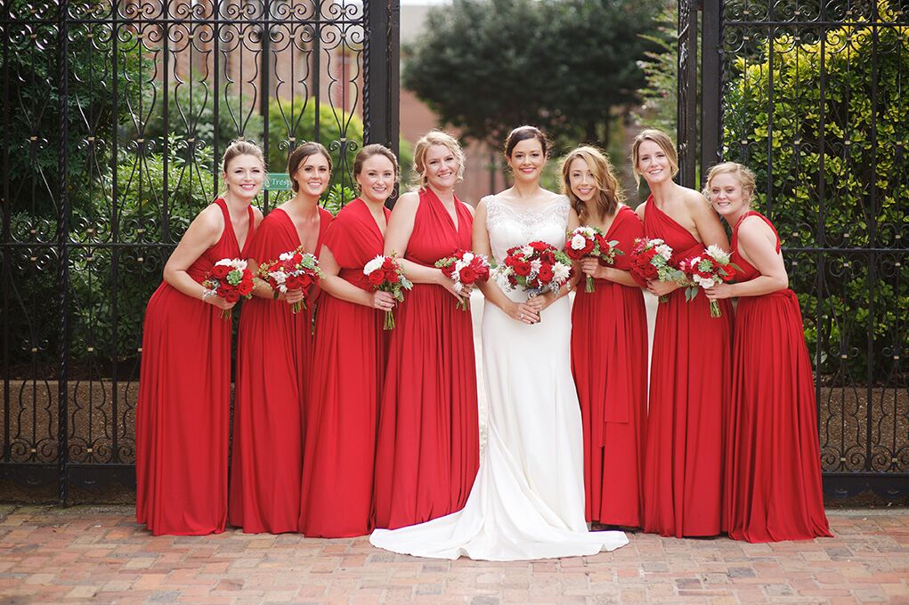 Gini and her bridesmaids