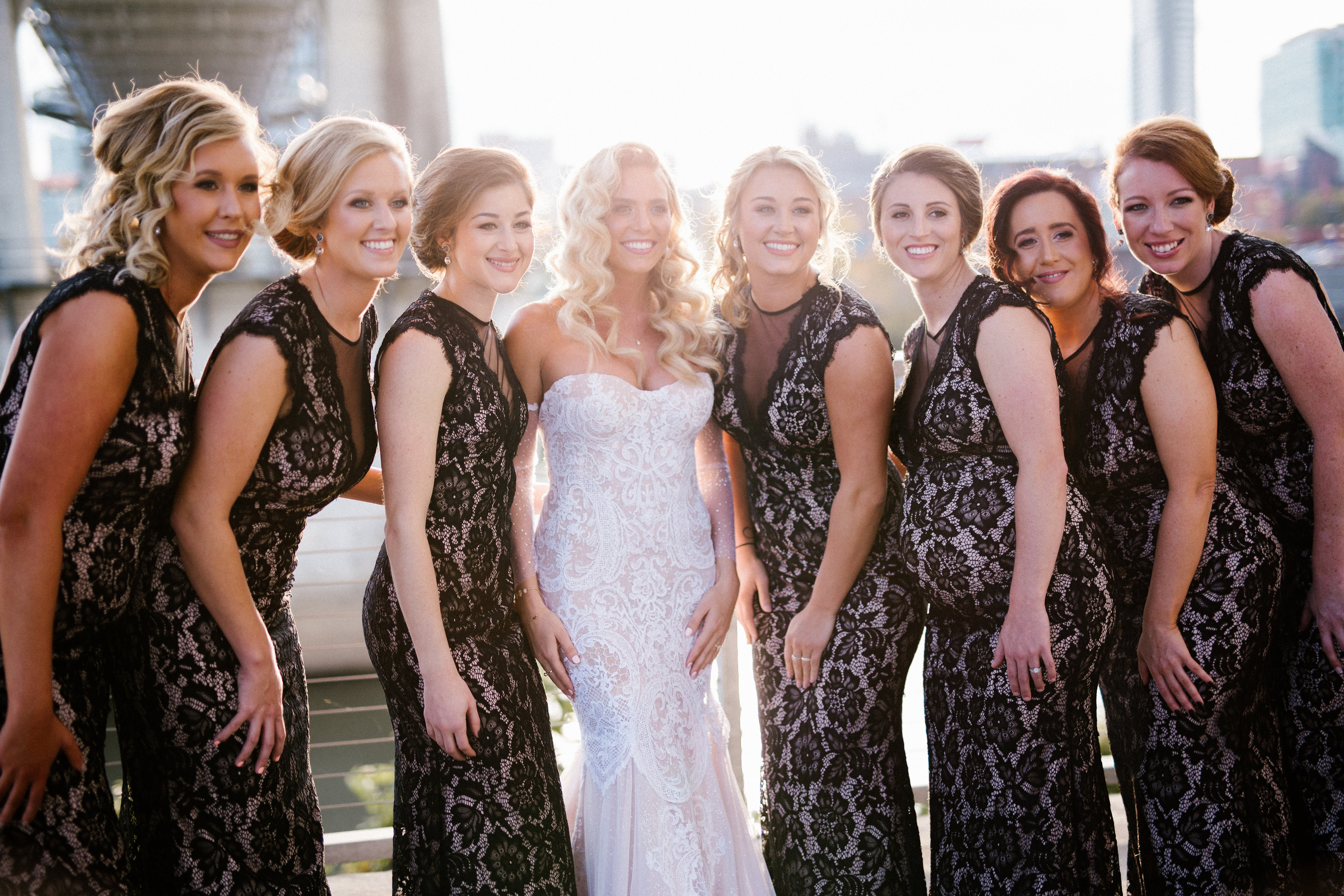 Kaitlin and her bridesmaids