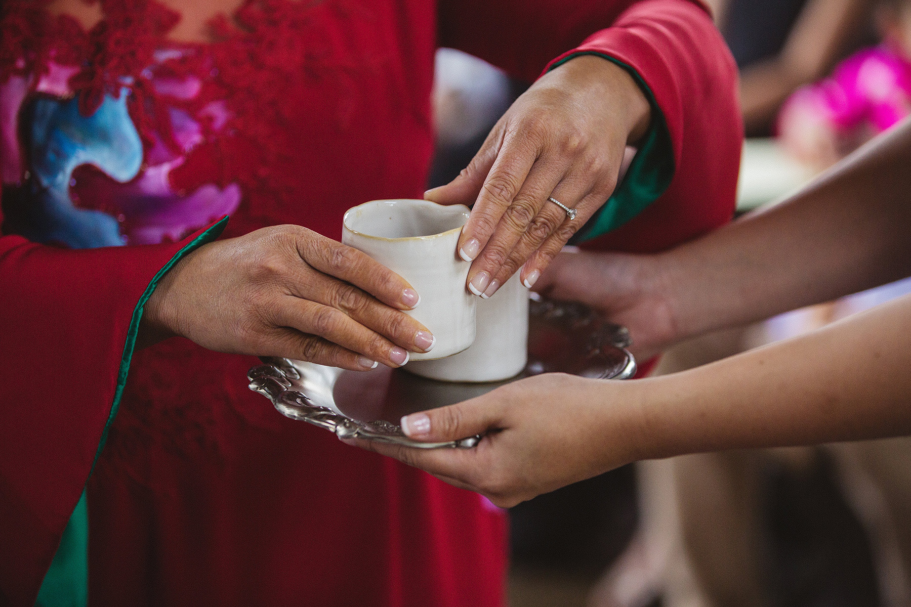 Amy and Thomas' Traditional Vietnamese Tea Ceremony at The Bridge Building