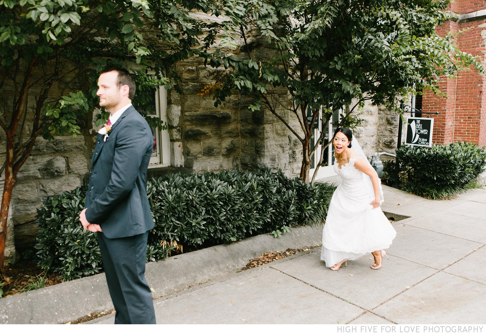Amy and Brandon's first look