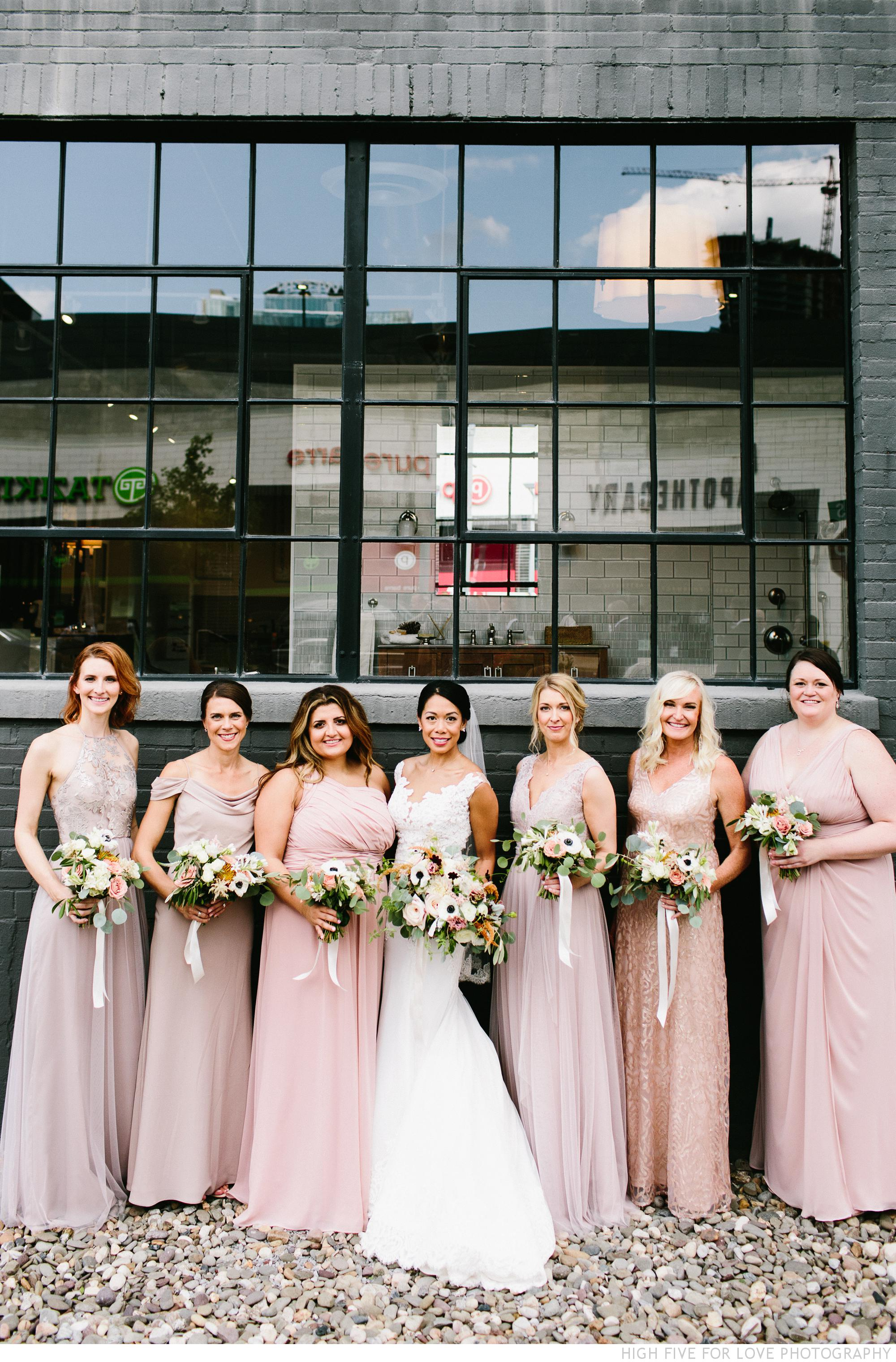 Amy and her bridesmaids