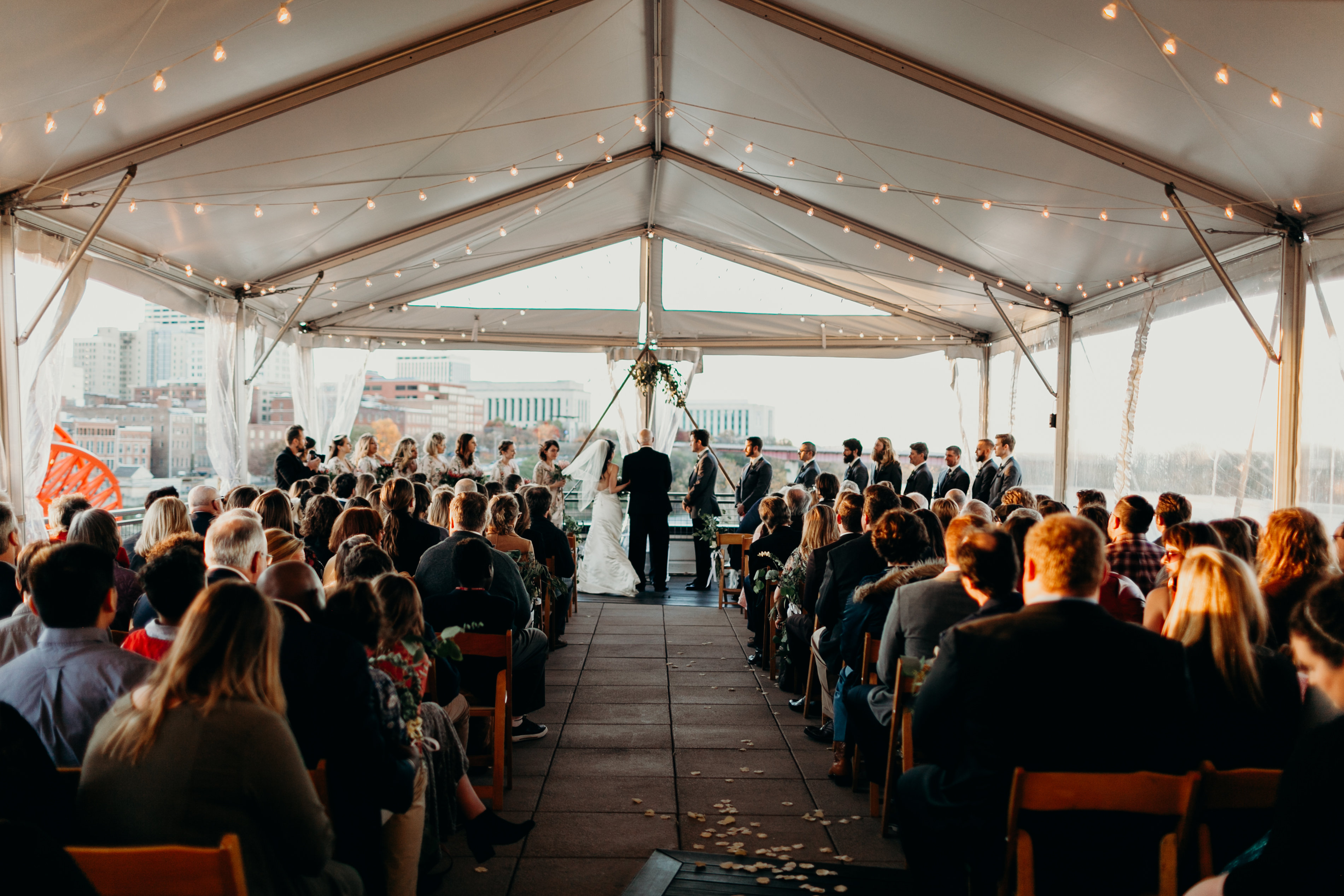 Chelsey and Parker's wedding ceremony