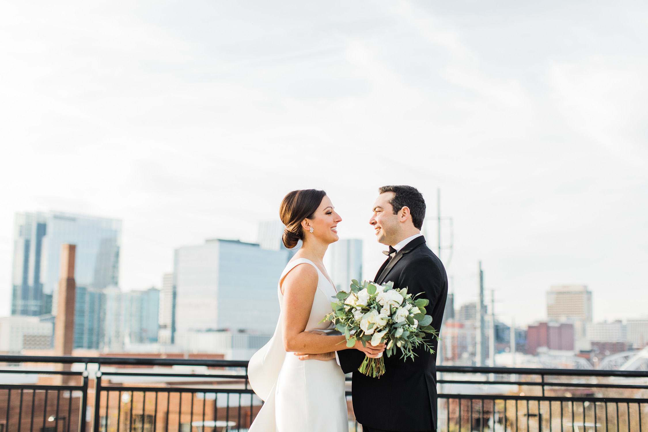 A contemporary chic wedding at The Bell Tower.