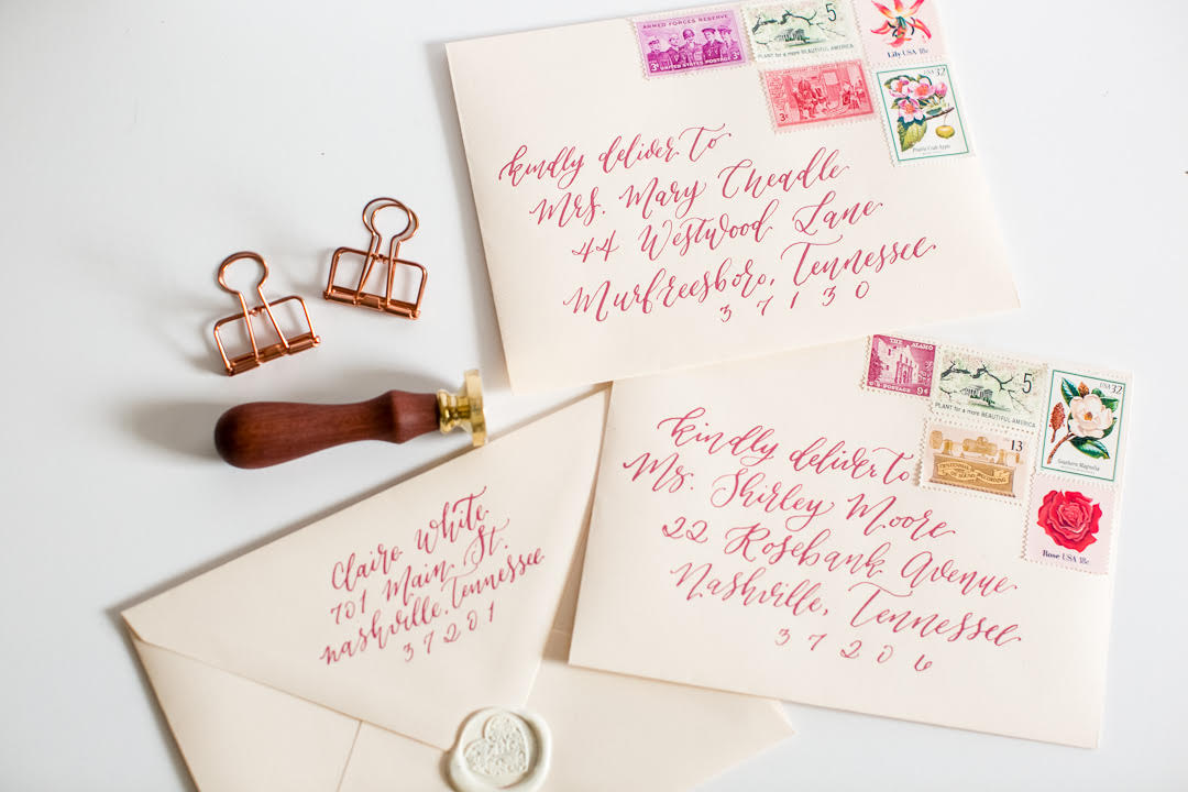 Claire White's top five tips for working with your calligrapher.